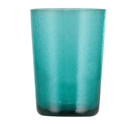 Petrol Blue Glass Tumbler - British Colour Standard