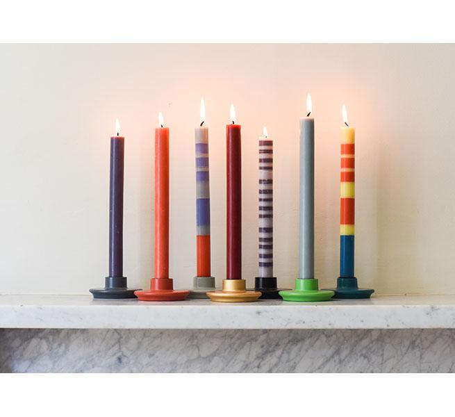 British Colour Standard Dinner Candle Pack of 6 - Petrol