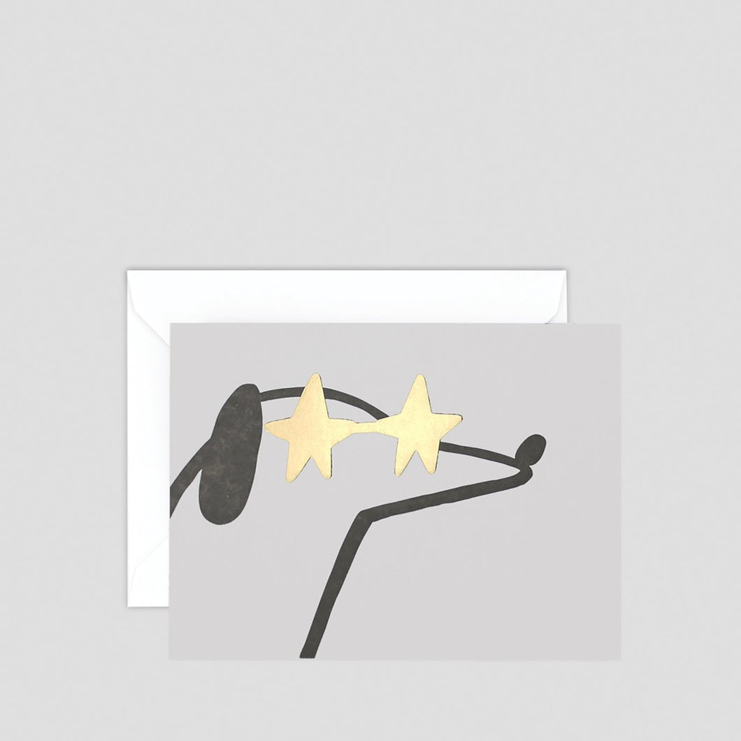 Dog with Shades Greeting Card