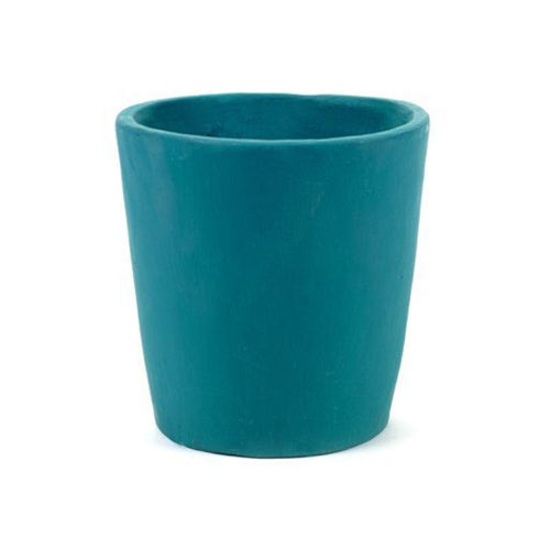 Teal Hand Painted Pot by Serax - Medium