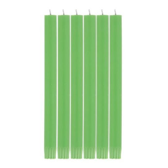 British Colour Standard Dinner Candle Pack of 6 - Grass Green