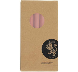 British Colour Standard Dinner Candle Pack of 6 - Old Rose