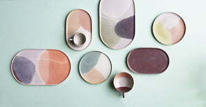 Oval Side Plate Pink/Nude