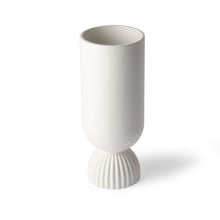 Load image into Gallery viewer, Ceramic Vase With Ribbed Base