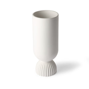 Ceramic Vase With Ribbed Base