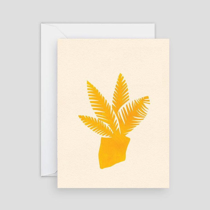 Yellow Plant Card