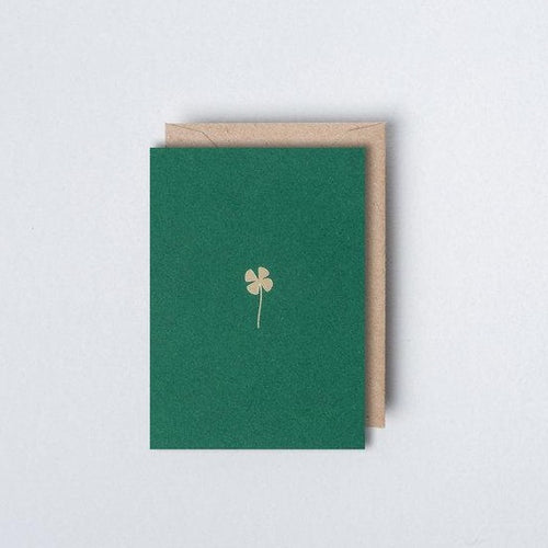 Small Foil Blocked Clover Card
