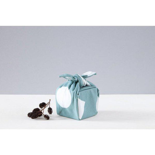 Luxury Cotton Gift Wrap - Turquoise Shapes