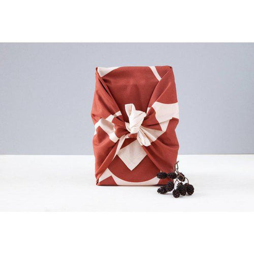 Luxury Cotton Gift Wrap - Berry Shapes