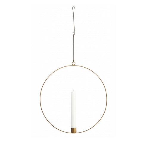 Circle Wire Ring Candle Holder