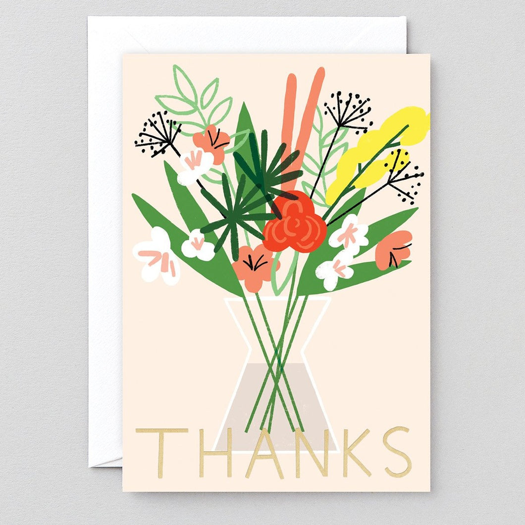 Thanks Flowers & Vase Card