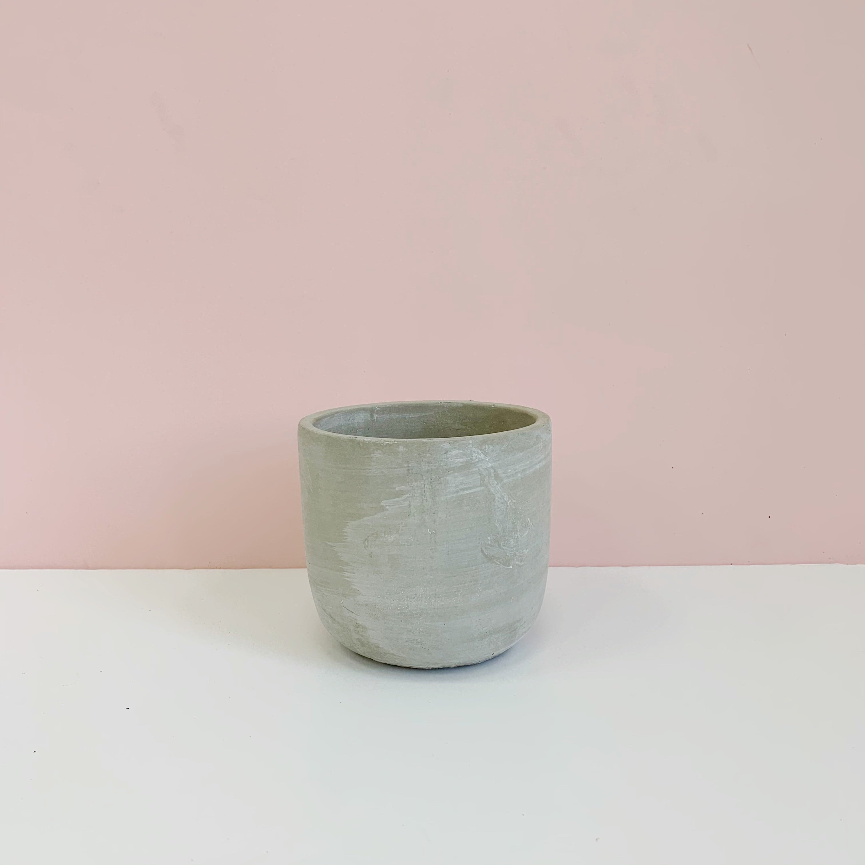 Small Concrete Round Pot