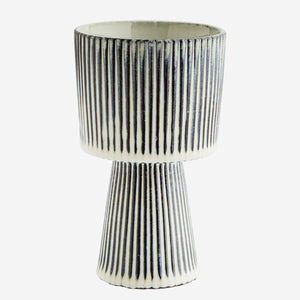 Striped Plant Pot - Medium