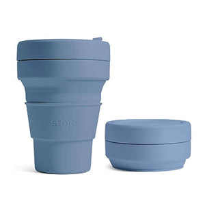 Stojo Collapsible Cup 12oz/355ml - Steel Blue