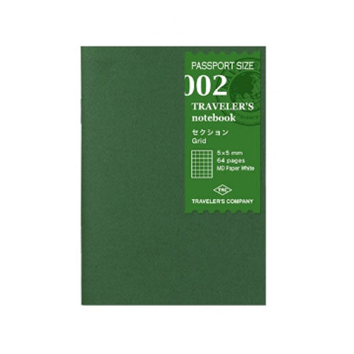 Travelers Notebook Passport Size - Grid Paper