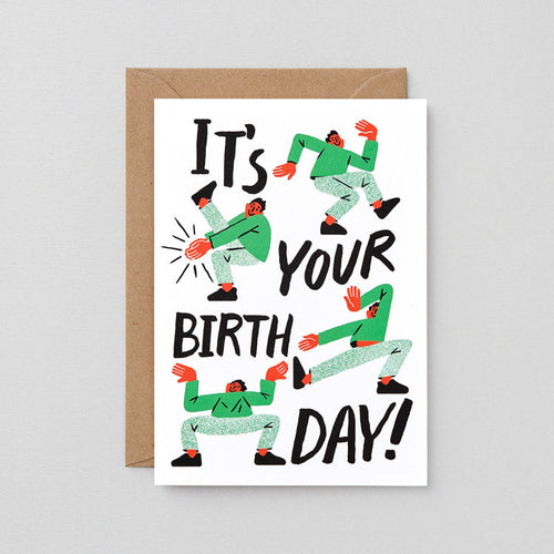 Birthday Dance greeting Card