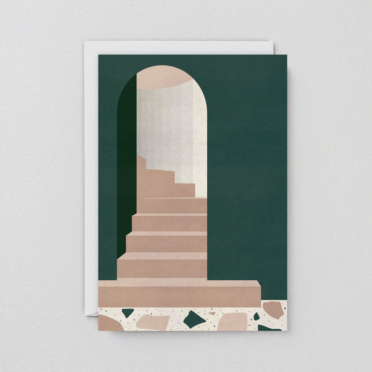 Green Doorway Art Card
