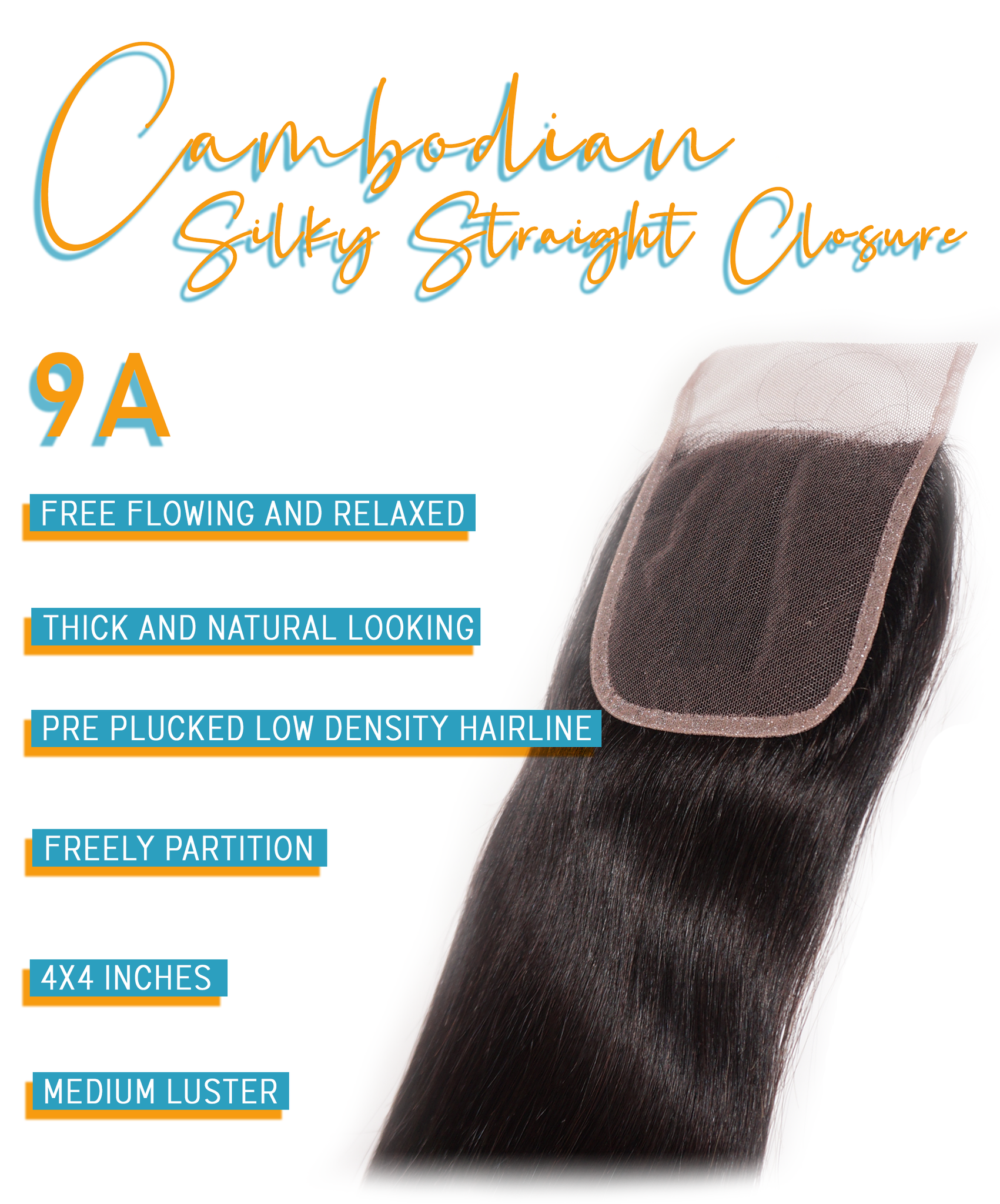 cambodian silky straight closure