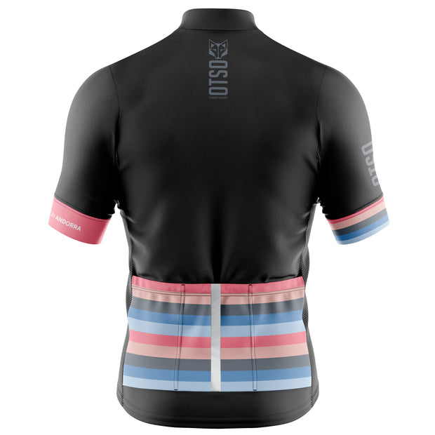Cycling Jersey Manga Corta Mujer Stripes Black