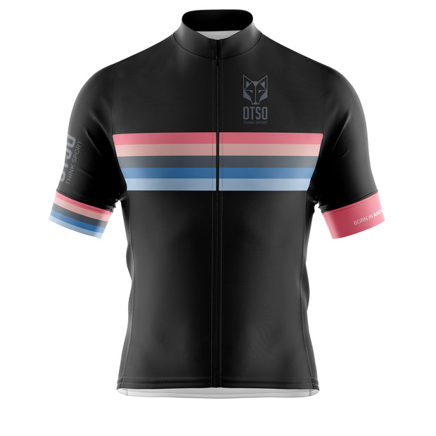 Cycling Jersey Manga Corta Hombre Stripes Black