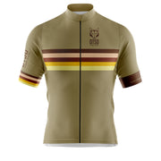 Cycling Jersey Manga Corta Hombre Stripes Gold
