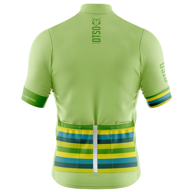Cycling Jersey Manga Corta Hombre Stripes Lime
