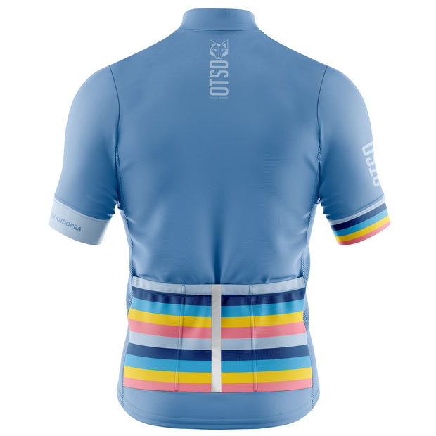 Cycling Jersey Manga Corta Hombre Stripes Steel Blue