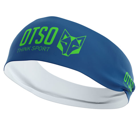 Cinta cabeza OTSO Sport Electric Blue / Fluo Green