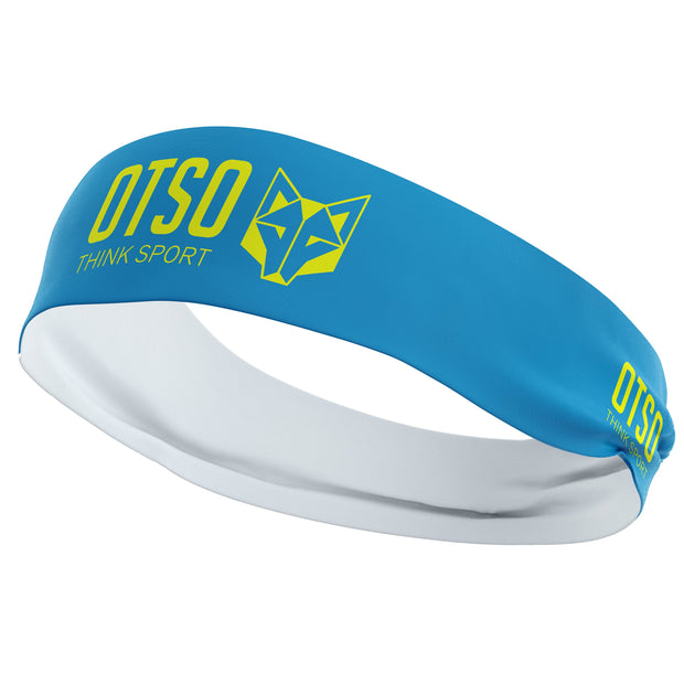 Headband Otso Sport Light Blue / Fluo Yellow