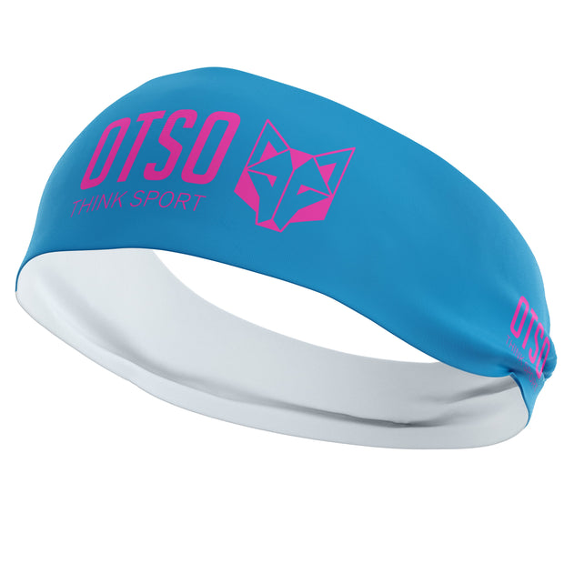 Headband Otso Sport Light Blue / Fluo Pink