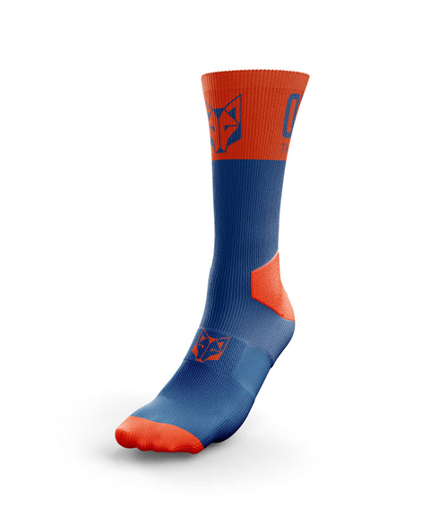 Calcetines Multideporte High Cut Navy Blue / Orange