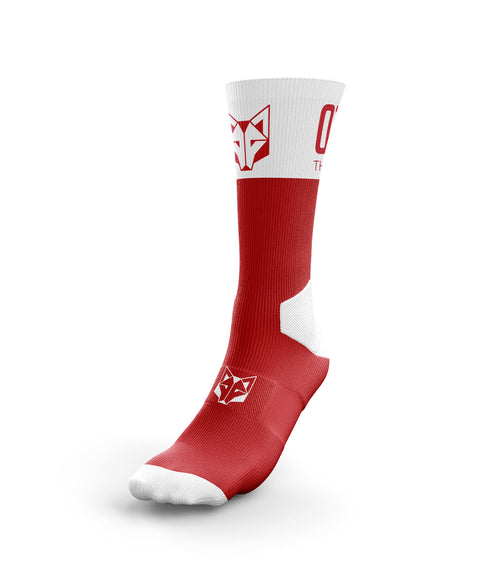 Multi-Sport Socks High Cut Red / White