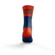 Calcetines Multideporte Medium Cut Navy Blue / Fluo Orange