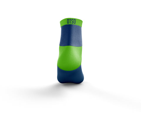 Calcetines Multideporte Low Cut Electric Blue & Fluo Green