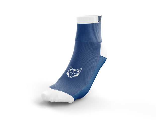 Calcetines Multideporte Low Cut Electric Blue & White