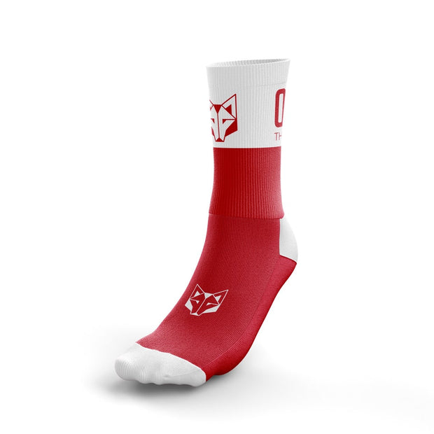 Calcetines Multideporte Medium Cut Red / White
