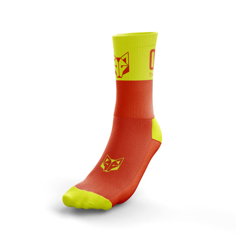 Multi-Sport Socks Medium Cut Fluo Orange / Fluo Yellow