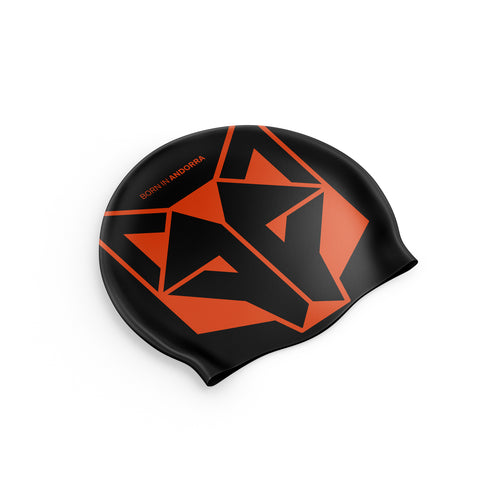 Gorro natación Black / Fluo Orange