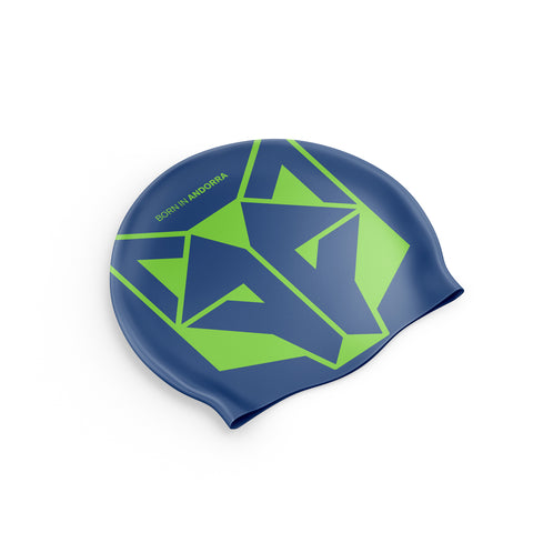 Swimming Cap Electric Blue / Fluo Green
