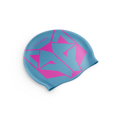 Swimming Cap Light Blue / Fluo Pink
