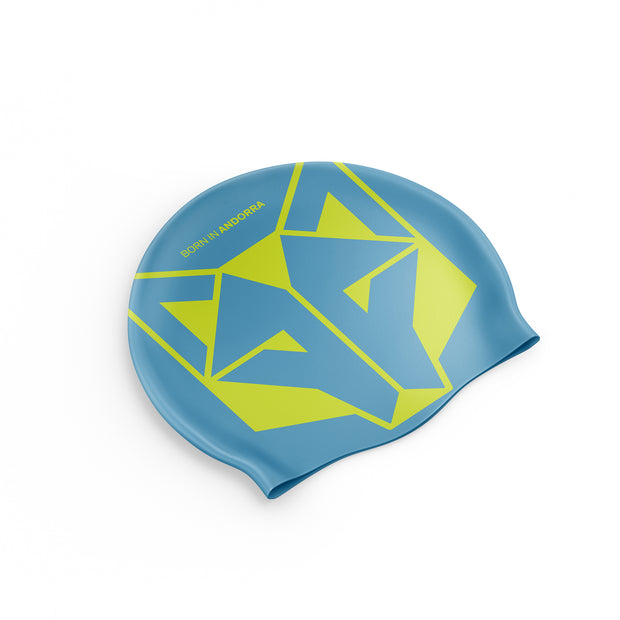 Gorro natación Light Blue / Fluo Yellow