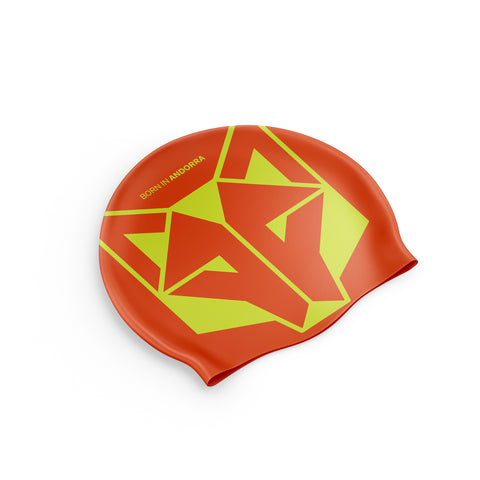 Swimming Cap Fluo Orange / Fluo Yellow