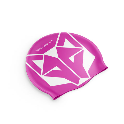 Swimming Cap Fluo Pink / White
