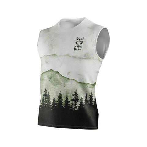 Men's Singlet Green Forest