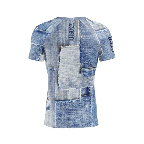 Men 's Short Sleeve Shirt Blue Jeans