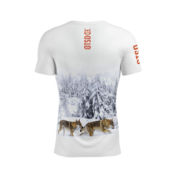 Men's Short Sleeve Shirt Wolf