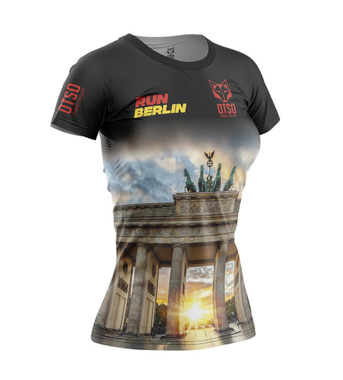 Women's Short Sleeve Shirt Run Berlin