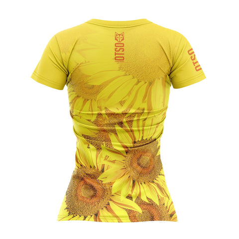 Women's Short Sleeve Shirt Sunflower