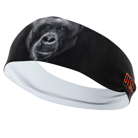 Headband Otso of 12 centimeters thick and with the design of a gorilla. The product is unisex and one size fits all