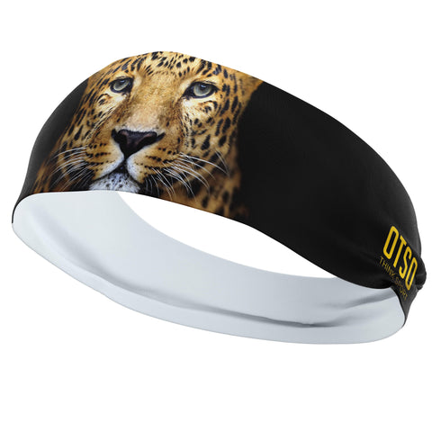 Headband Otso of 12 centimeters thick and with the design of a leopard. The product is unisex and one size fits all